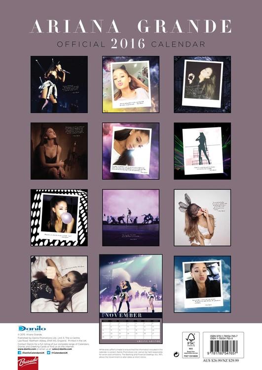 Calendario Grande.Calendario 2020 Ariana Grande