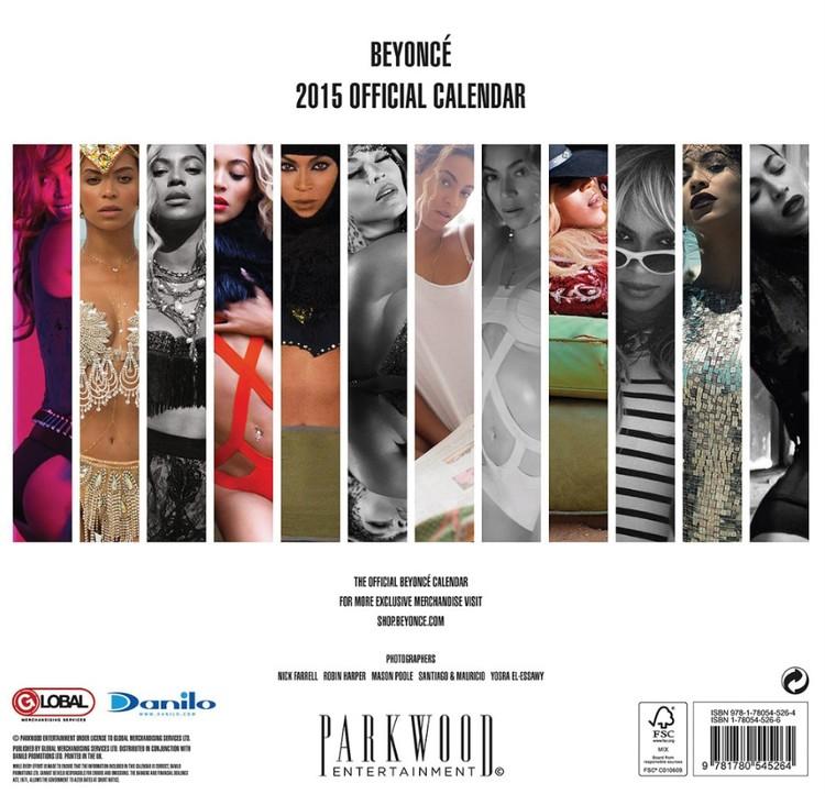Calendario 2018  Beyoncé