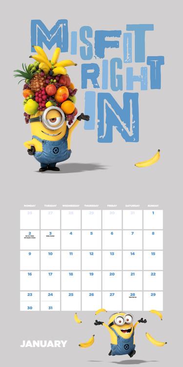Calendario 2019  Cattivissimo me