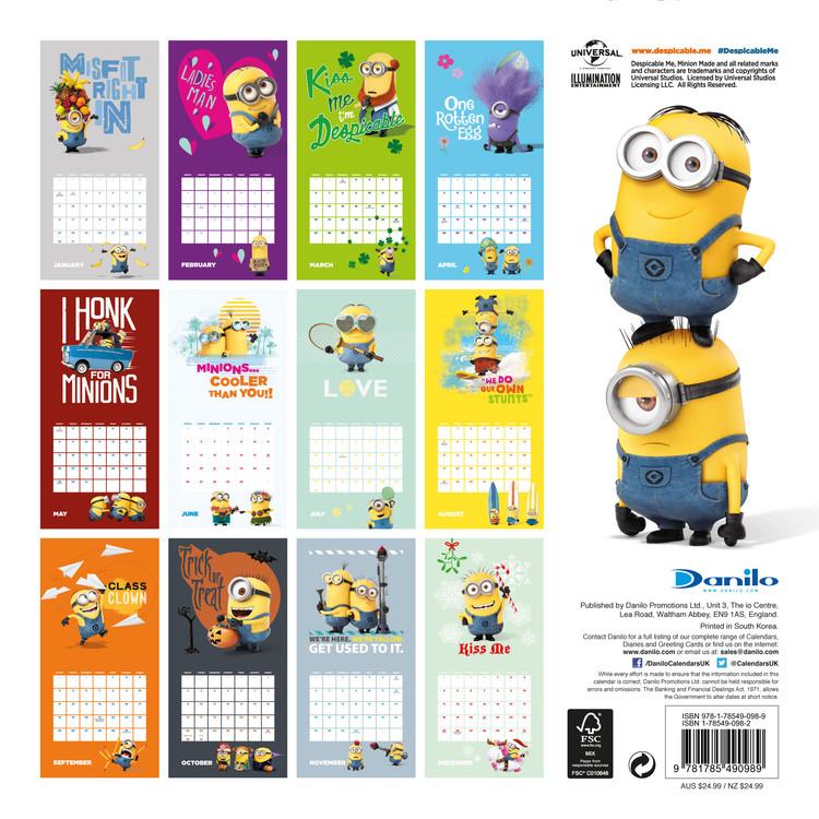 Calendario It.Calendario 2020 Cattivissimo Me Minions