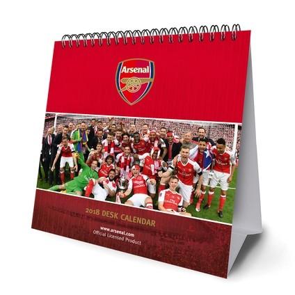 Calendario Arsenal.Calendario 2020 Desk Easel 2018 Calendar Arsenal Europosters It