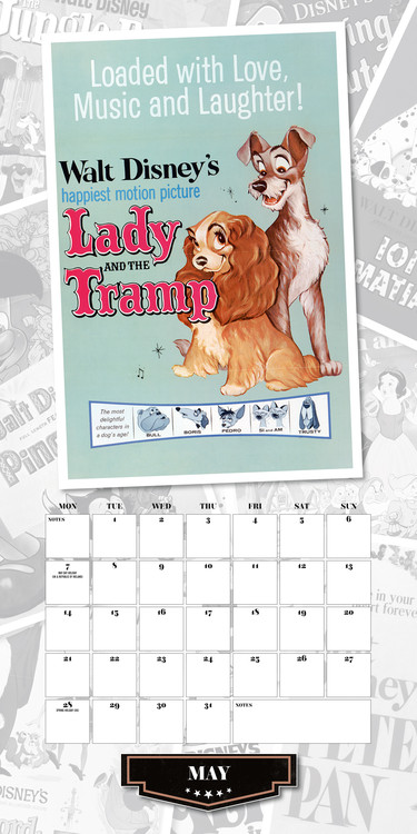 Calendario Principesse 2020.Calendario 2020 Disney Vintage