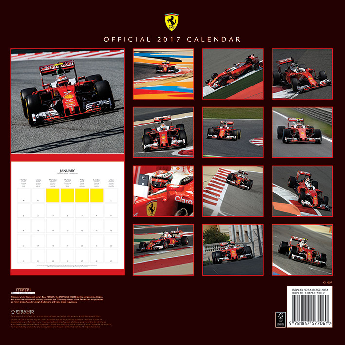 calendario 2019 ferrari f1 2017. Black Bedroom Furniture Sets. Home Design Ideas