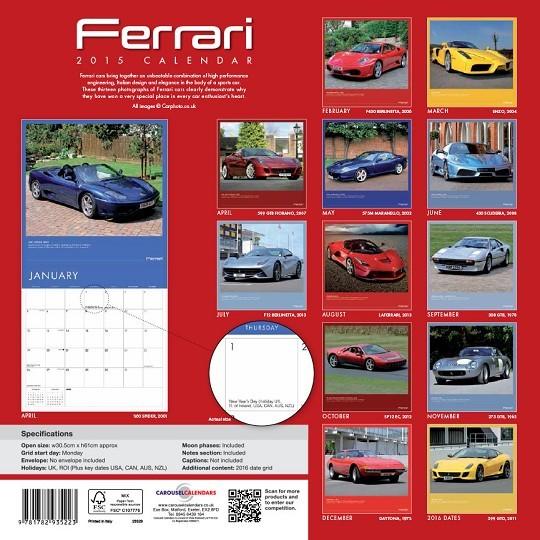 Calendario 2019  Ferrari