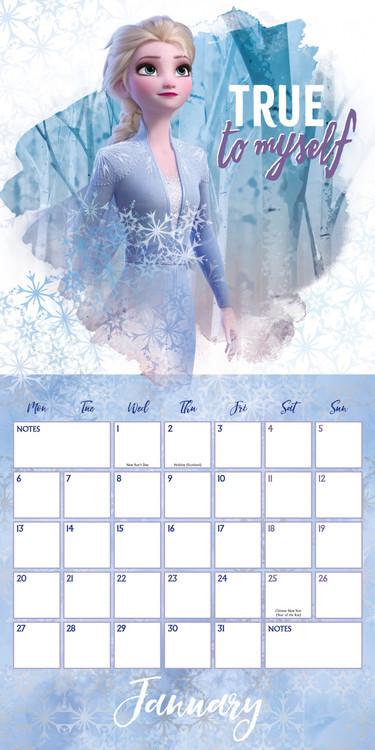 Calendario 2021 Frozen: Il regno di ghiaccio 2   EuroPosters.it
