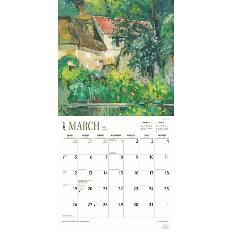 Calendario 2019  Impressionisti