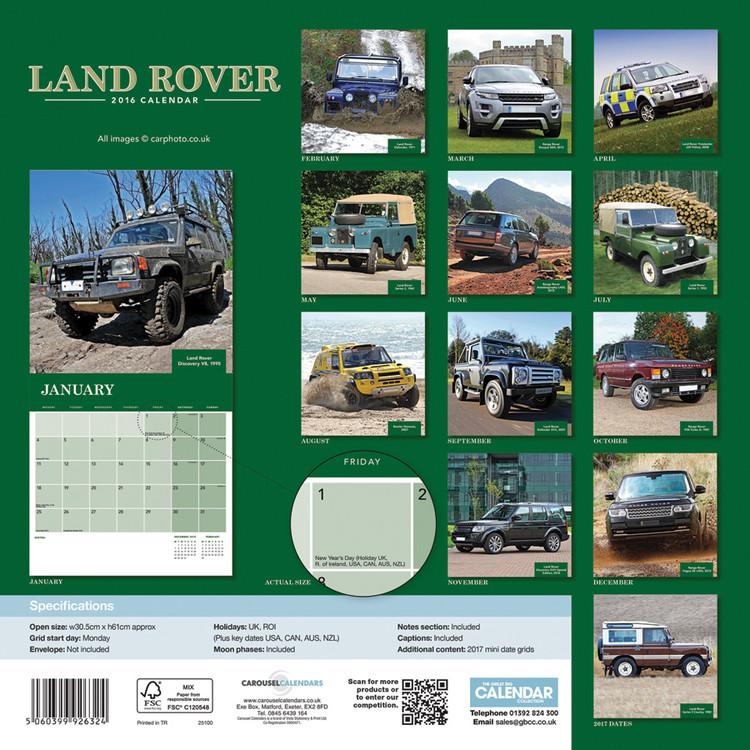 Calendario 2018  Land Rover