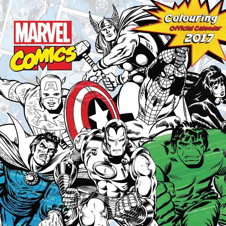 Calendario 2017 Marvel comics