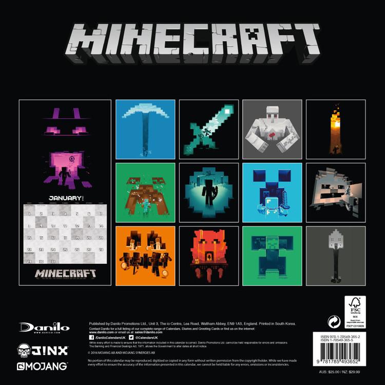 Vendita Calendario 2020.Calendario 2020 Minecraft