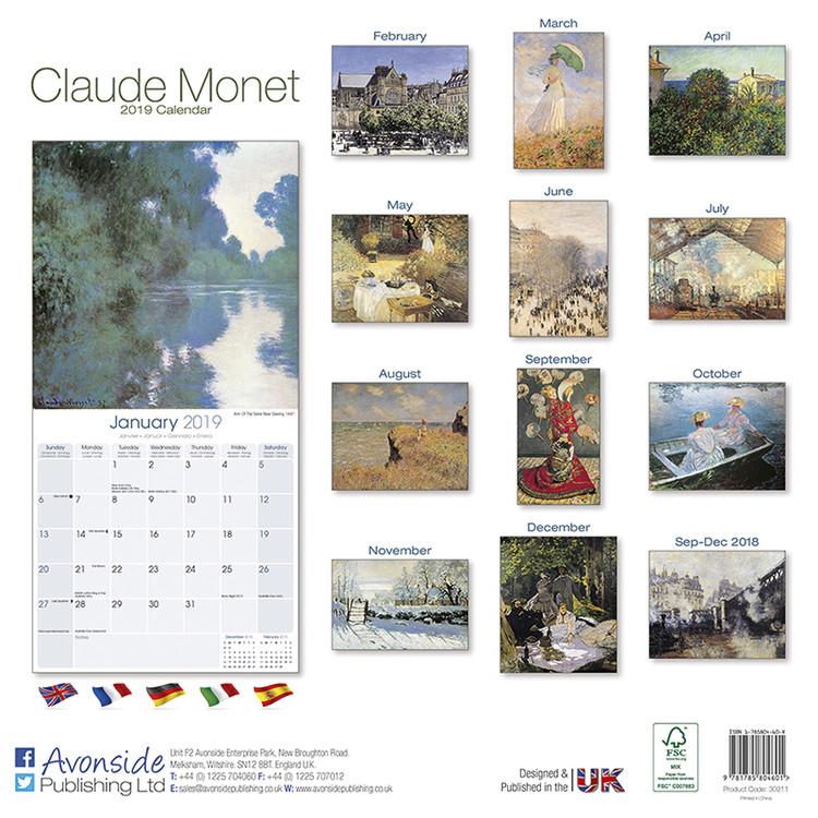 Calendario F2.Calendario 2020 Monet