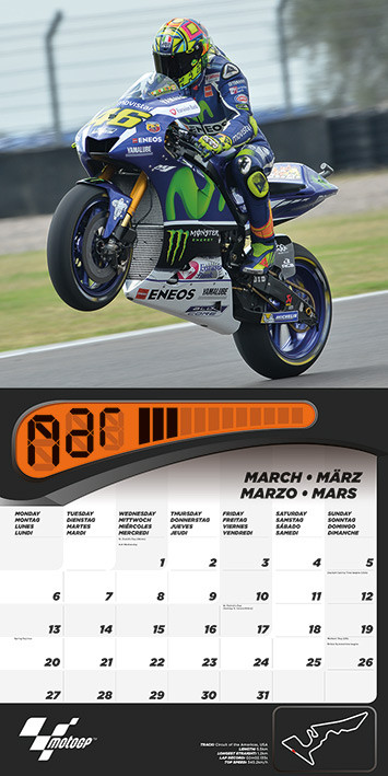 Calendario 2021 Moto GP   EuroPosters.it