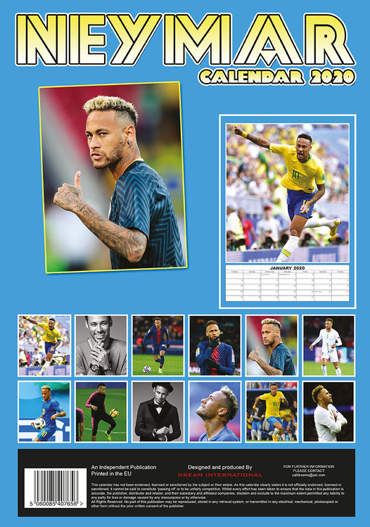 Athletic Calendario 2020.Calendario 2020 Neymar