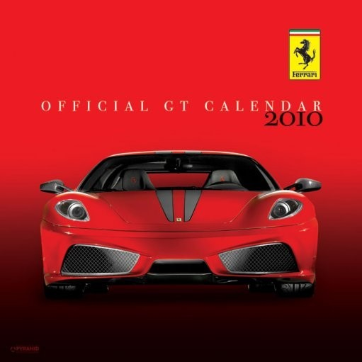 Calendario 2017 Official Calendar 2010 Ferrari GT