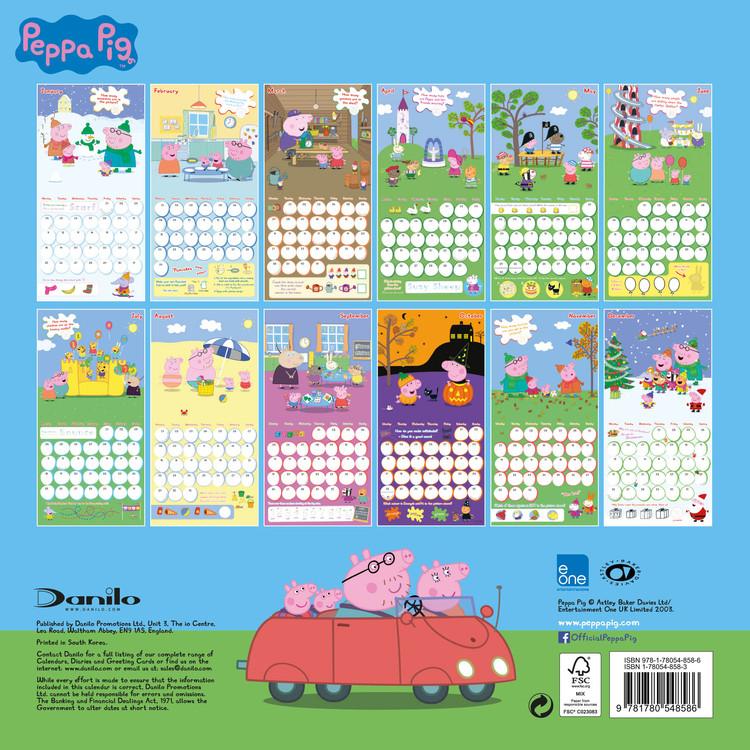 Calendario 1974.Calendario 2020 Peppa Pig