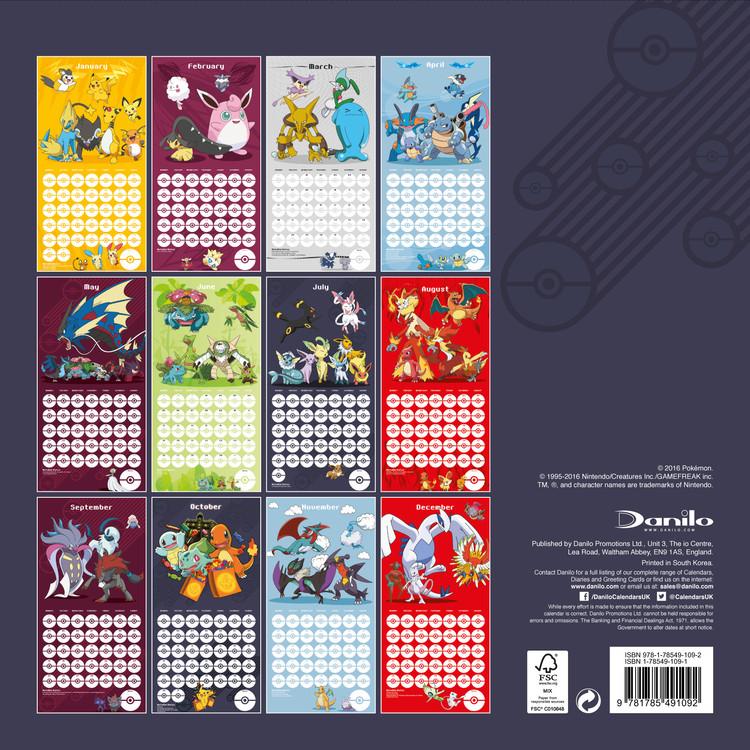 Calendario 2020 Da Colorare Per Bambini.Calendario 2020 Pokemon Europosters It