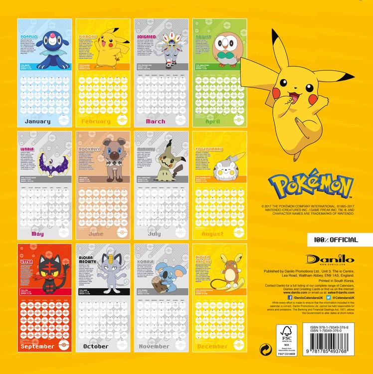 Calendario Saldi 2020.Calendario 2020 Pokemon
