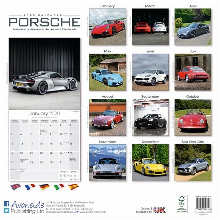 Calendario 2021 Porsche