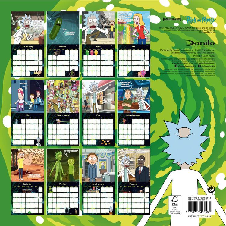 Calendario 2020 Con Foto.Calendario 2020 Rick And Morty