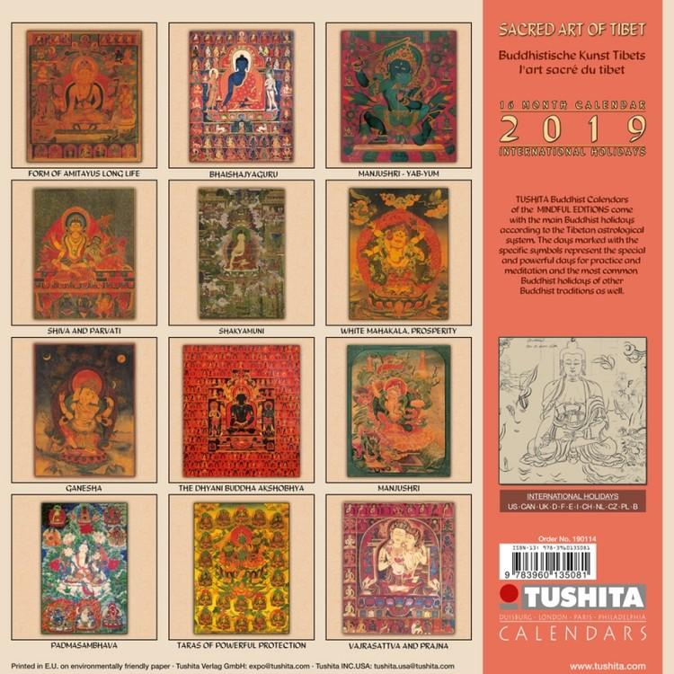 Calendario Tibetano.Calendario 2020 Sacred Art Of Tibet