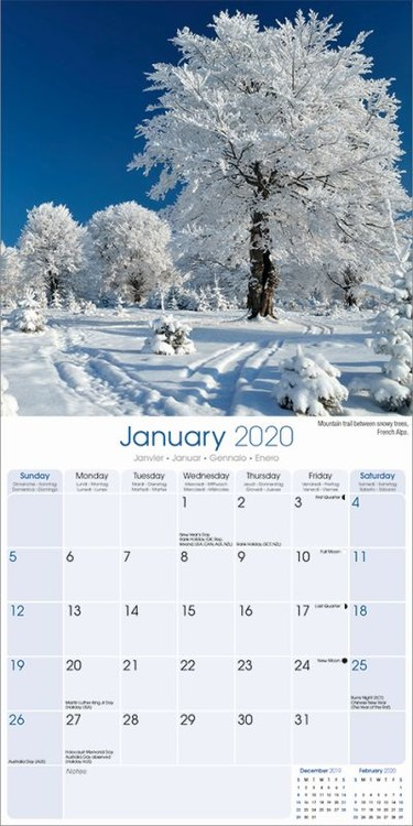 Calendario Di Meo 2020.Calendario 2020 Seasons