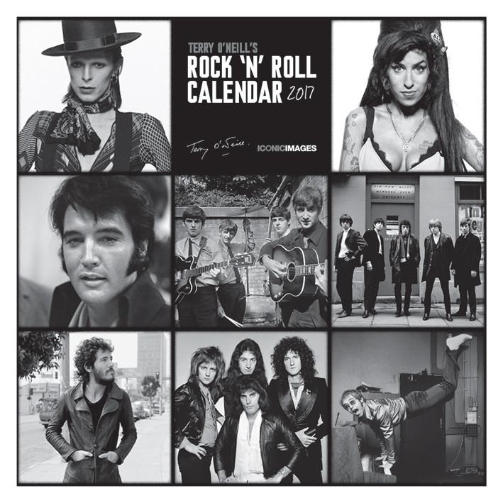 Calendario 2018 Terry O'Neill's Rock 'n' Roll