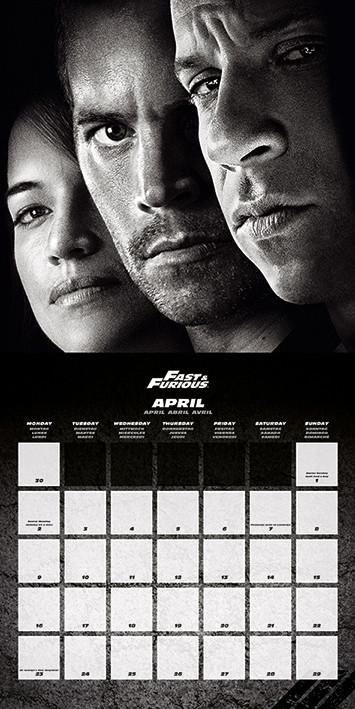 Apri Il Calendario.Calendario 2020 The Fast And Furious