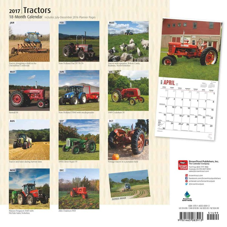 Calendario 1949.Calendario 2020 Trattori