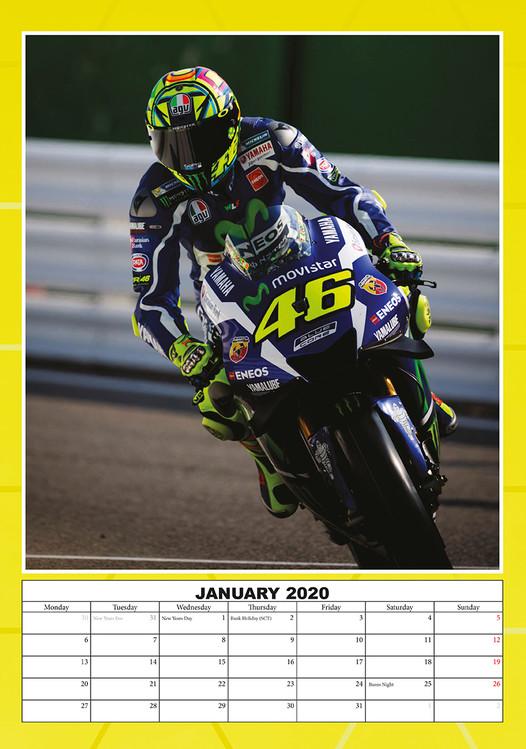 Calendario Valentino Rossi 2020.Calendario 2020 Valentino Rossi