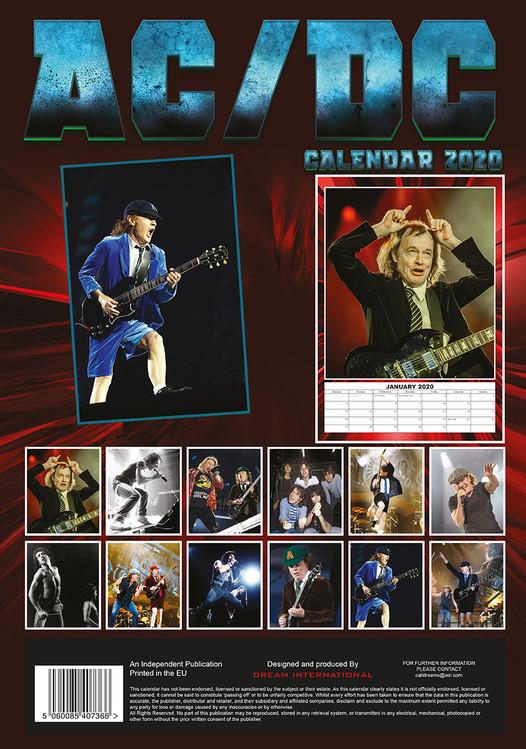 Calendar 2020  AC/DC