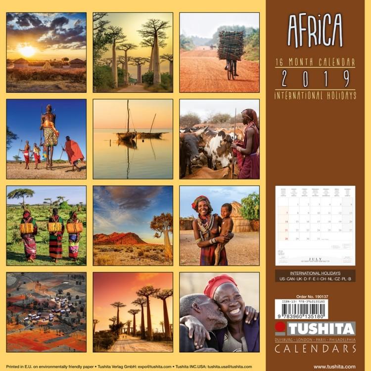 Calendar 2019  Africa