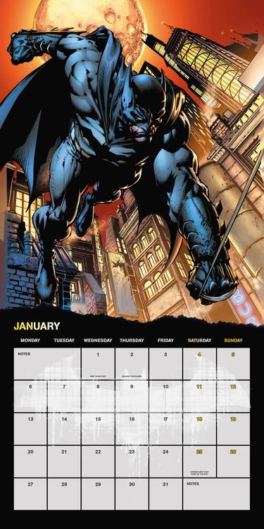 Calendar 2021 Batman Comics
