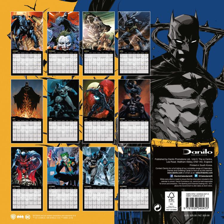 Calendar 2020  Batman Comics