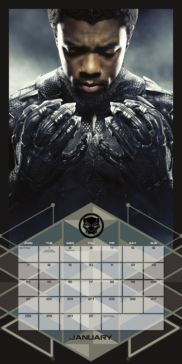 Calendar 2019  Black Panther