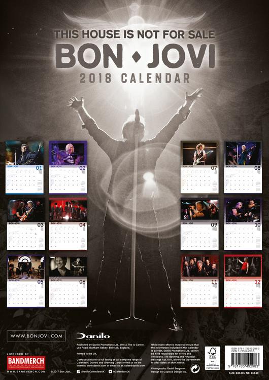 Calendar 2020  Bon Jovi