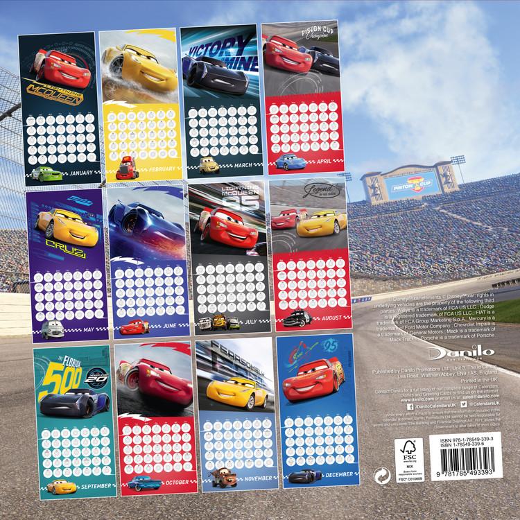 Coming Soon Calendario.Calendar 2020 Cars 3