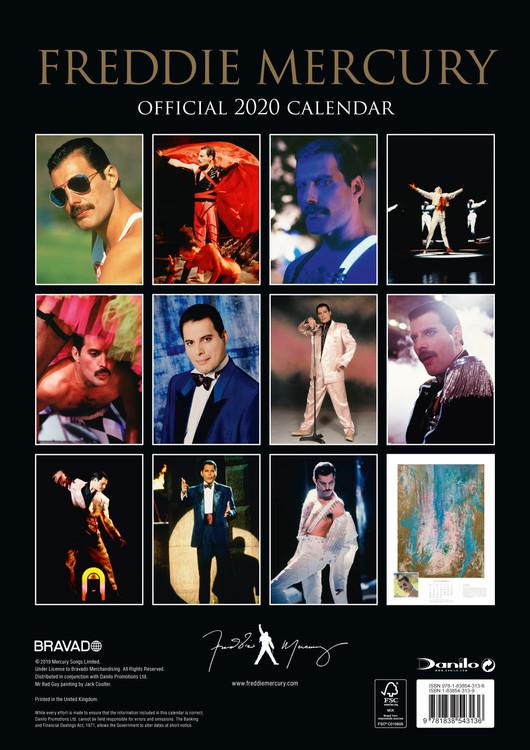 Calendar 2021 Freddie Mercury