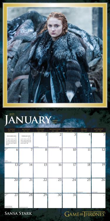Calendar 2019  Juego de Tronos