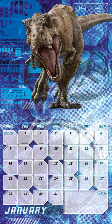 Calendario Vino 2020.Calendar 2020 Jurassic World Fallen Kingdom