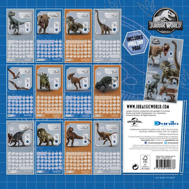 Calendar 2020  Jurassic World