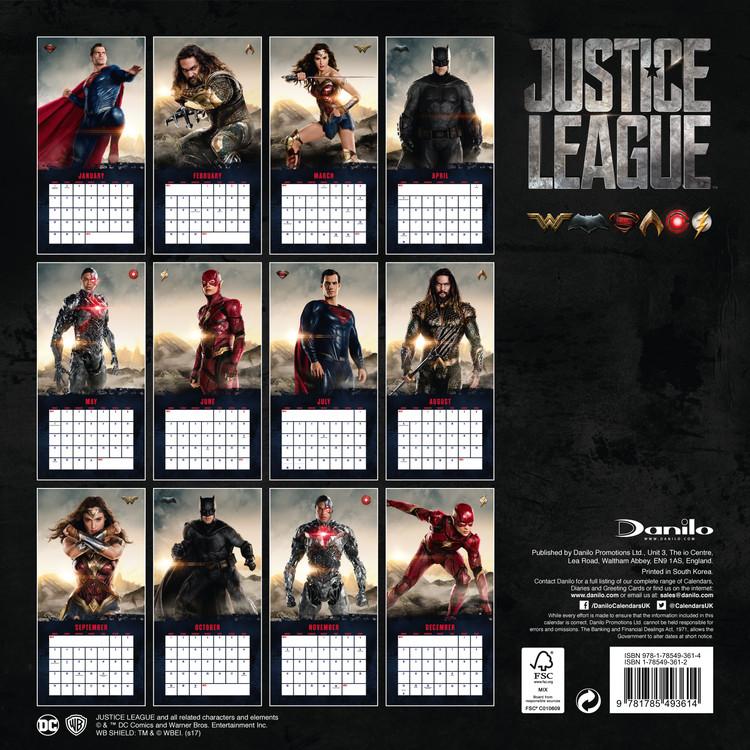 Calendar 2019  Justice League