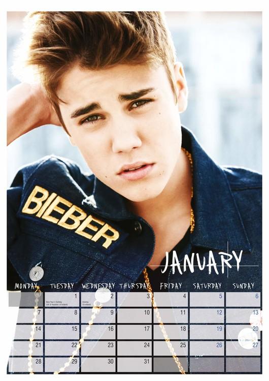 Calendar 2019  Justin Bieber