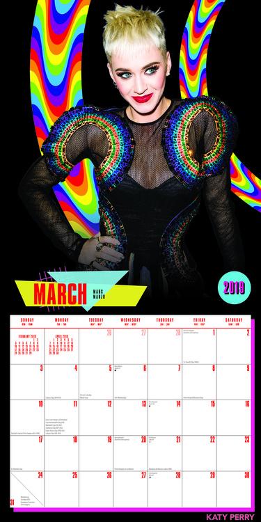 Calendar 2020  Katy Perry
