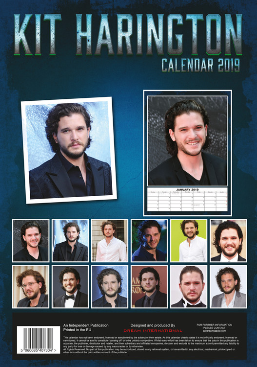 Calendar 2019  Kit Harington