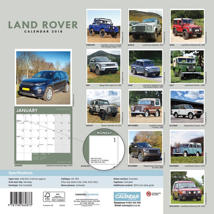 Land Rover - Calendarios 2019