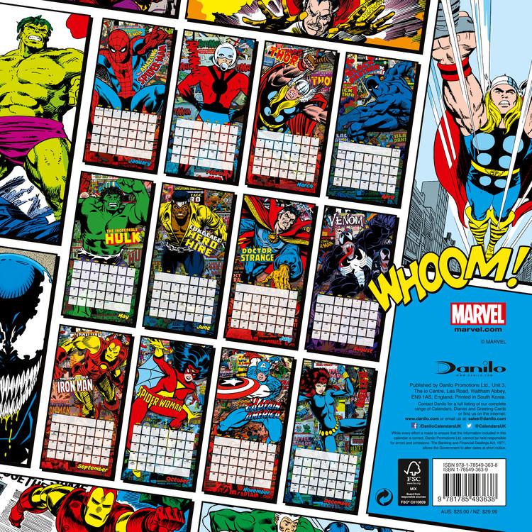 Calendario Ironman 2020.Calendar 2020 Marvel Comics Classics