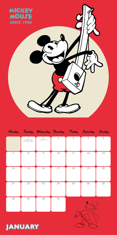 Calendario 2019 Disney Para Imprimir.Calendar 2020 Mickey Mouse 90th Anniversary