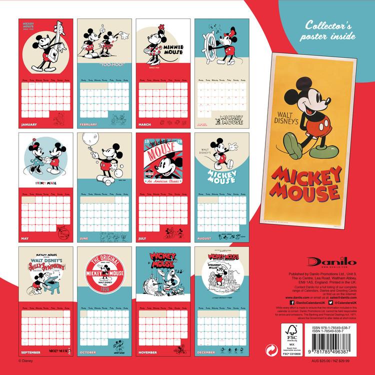 Mini Calendario 2019 Para Imprimir Grande.Calendar 2020 Mickey Mouse 90th Anniversary