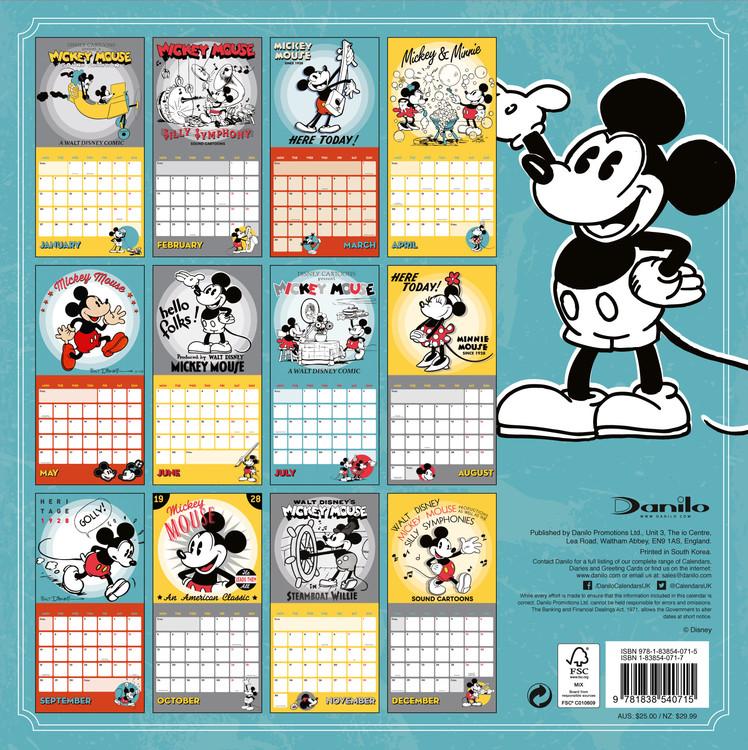Calendar 2021 Mickey Mouse Classic