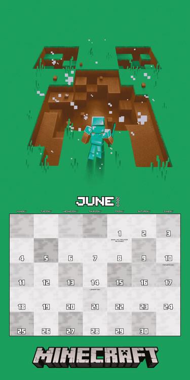 Calendario Pesca 2020.Calendar 2020 Minecraft