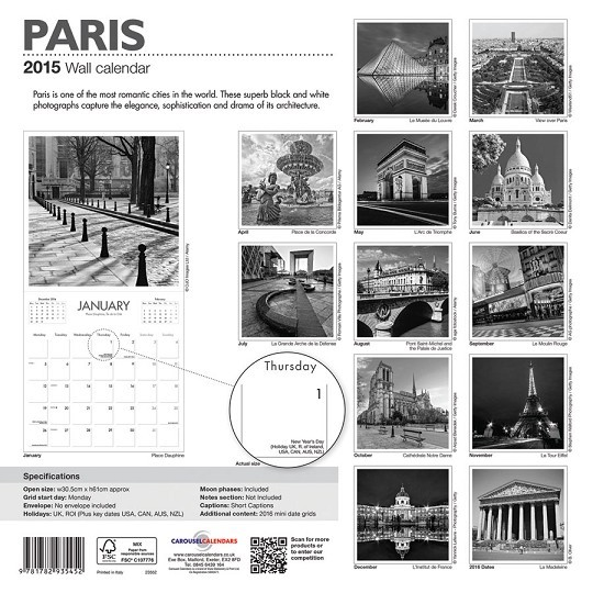 Calendar 2018  París